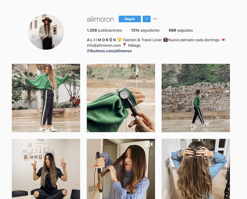 @aliimoron instagramers de viajes