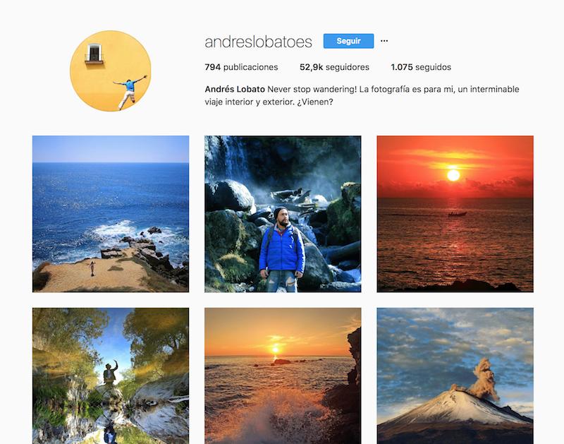 @andreslobatoes instagramers de viajes