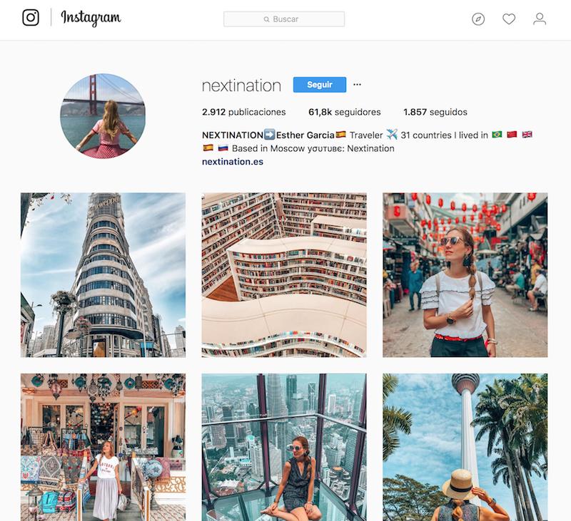 @nextination instagramers de viajes