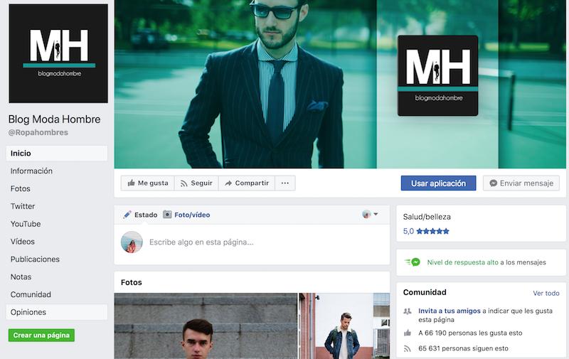 Blog Moda Hombre perfiles de moda en facebook
