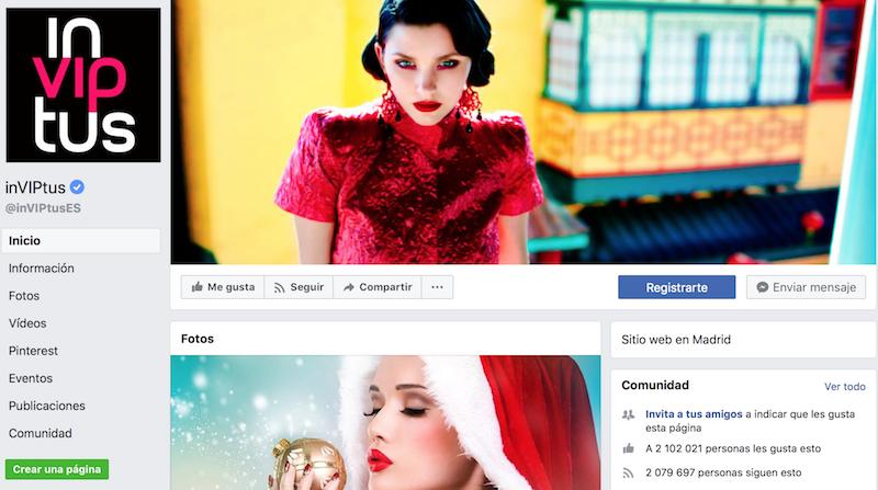 InVIPtus perfiles de moda en facebook