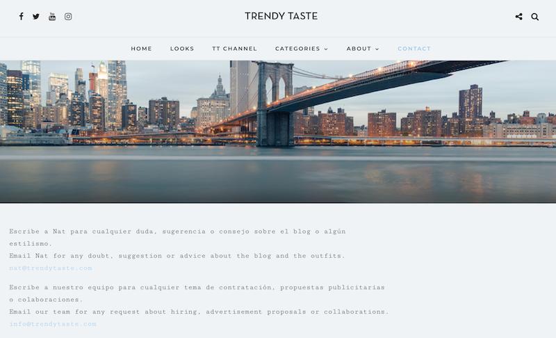 ejemplo contacto publicidad blog