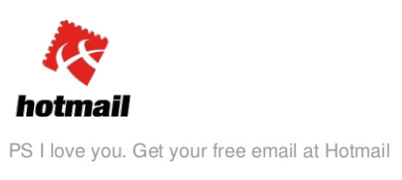 El pie de email de Hotmail