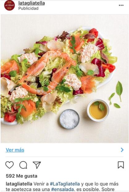página profesional de Instagram promoción