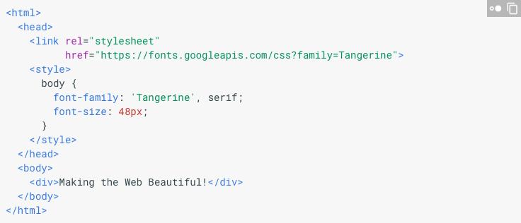 Google Fonts html