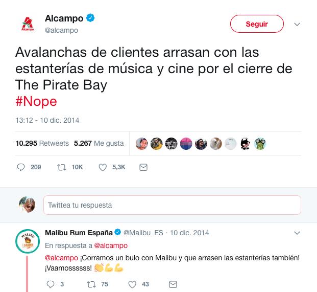 mejores tweets de marcas acampo