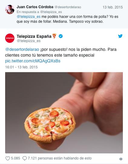 mejores tweets de marcas Telepizza