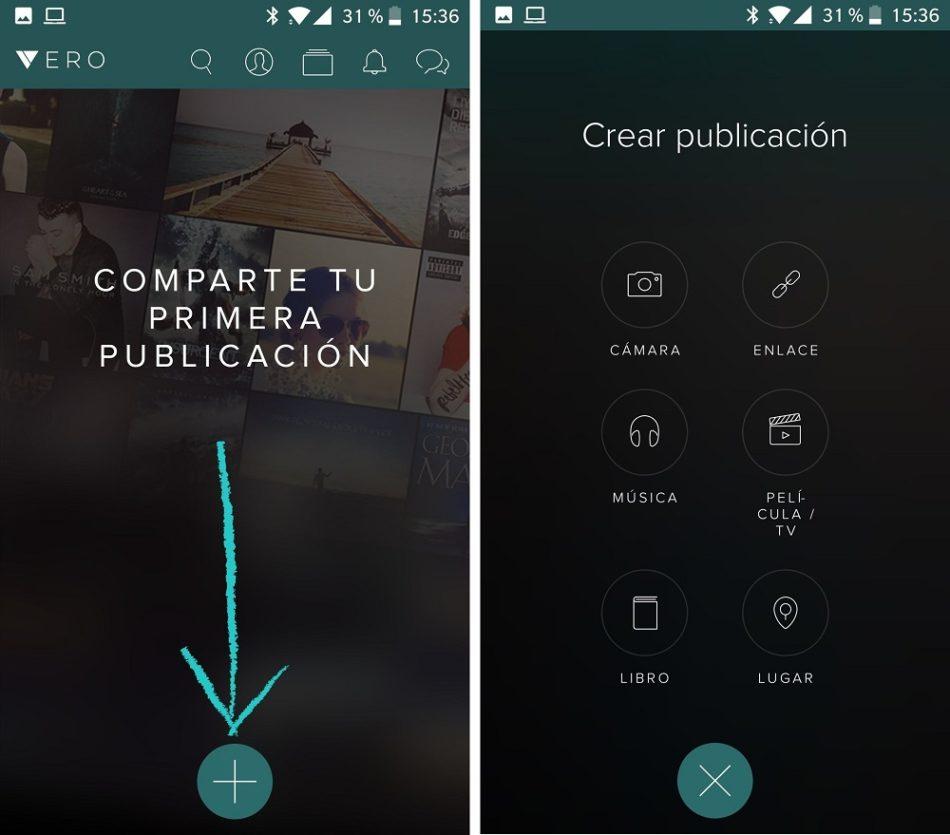 Contenidos multimedia en Vero App