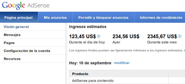 Utiliza Adsense para ganar dinero con Youtube
