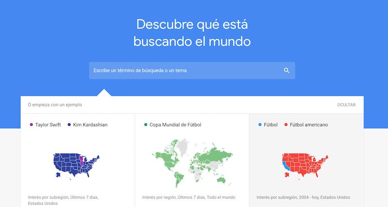 generar contenido relevante para una ecommerce: google trends