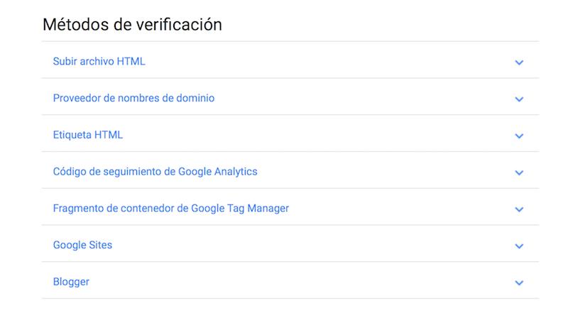 métodos de verificación