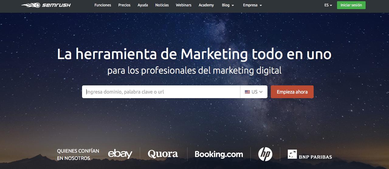 herramientas de marketing de contenidos semrush