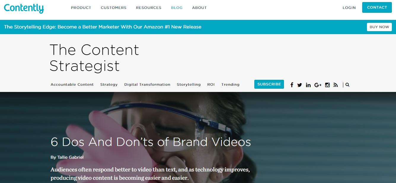 blogs de content marketing: Contently