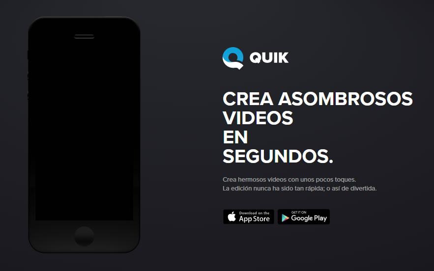 apps para editar vídeo: Quik