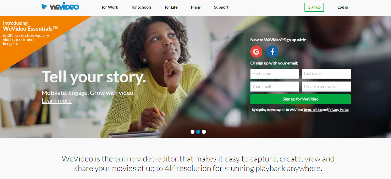 apps para editar vídeo: WeVideo