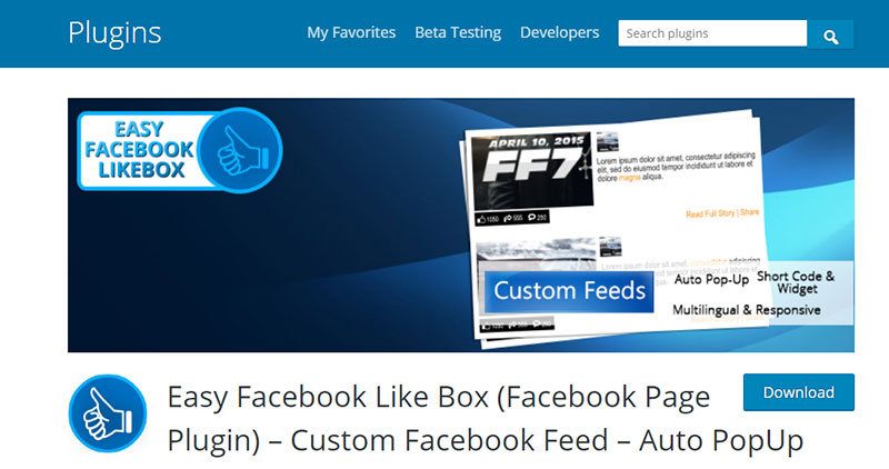 Easy  Facebook Like Box