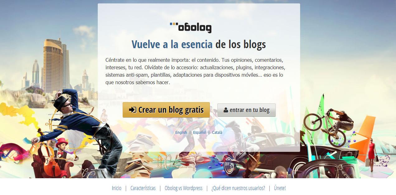 plataformas para crear blogs en 2018: Obolog