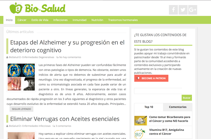 Blogs BIO. Biosalud