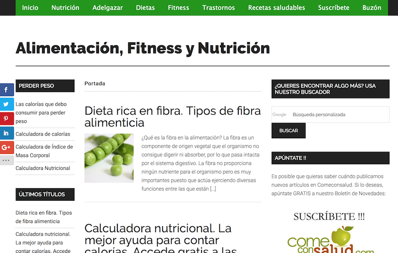 Blogs BIO. Come con salud