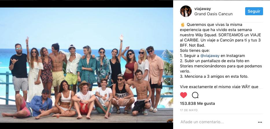 comentarios en Instagram concurso