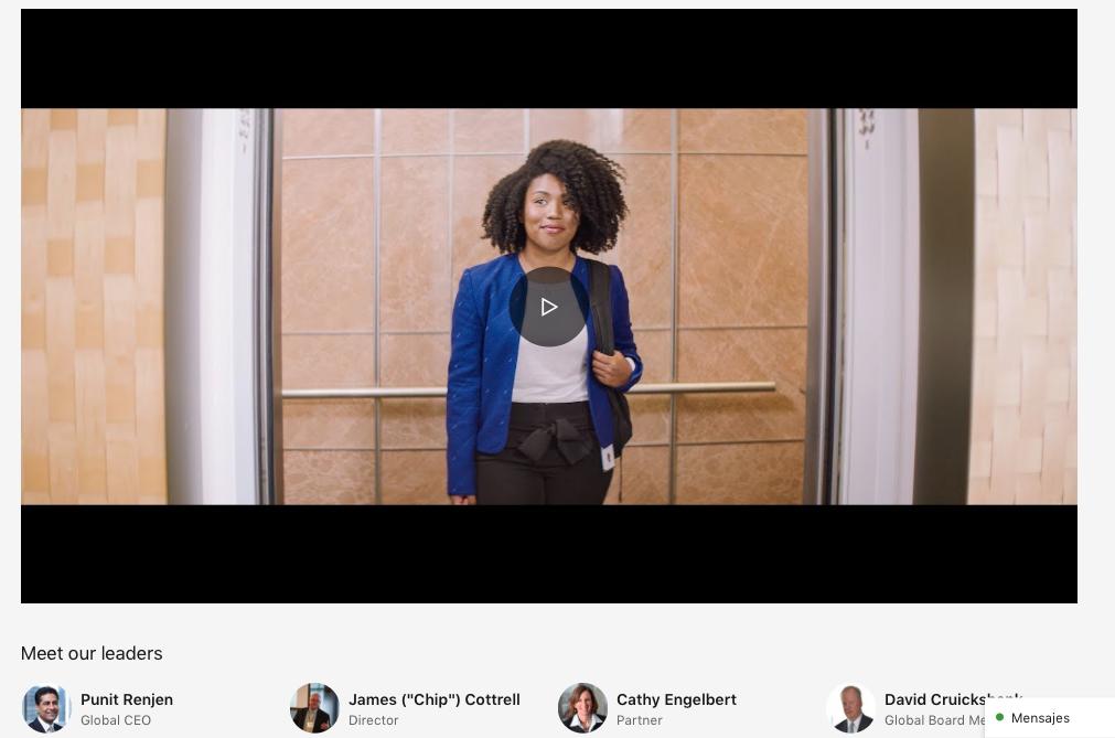 páginas de empresa en LinkedIn Deloitte