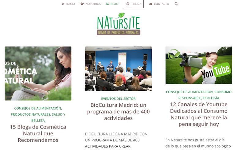 Blogs BIO. Natursite