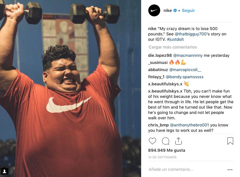 cuentas de instagram con más seguidores Nike