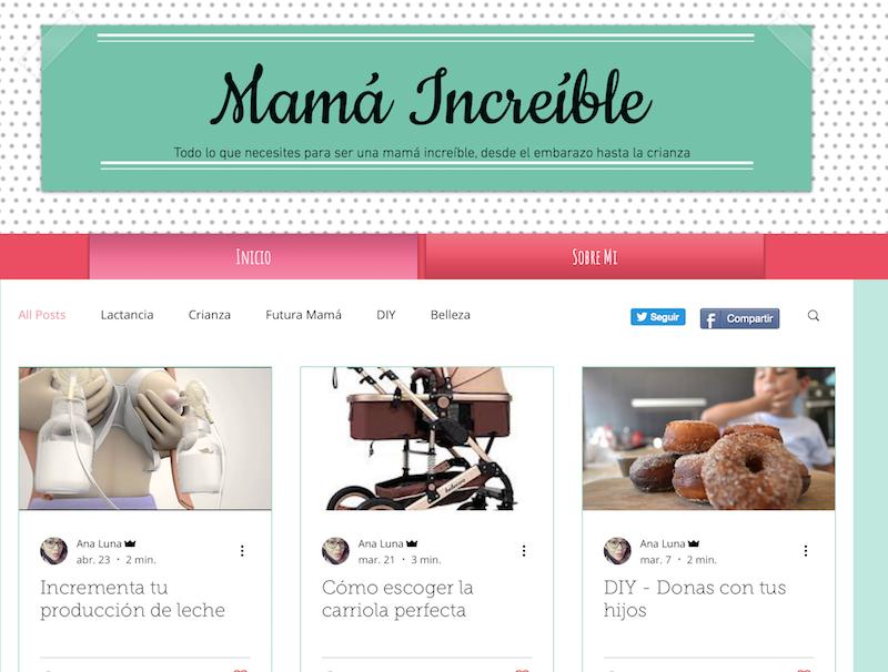 blog familiares de México Mamá increíble