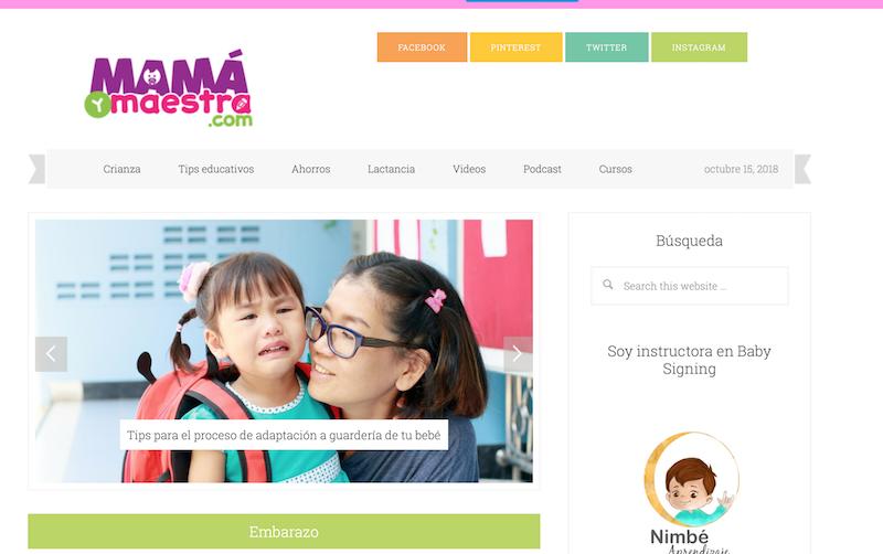blog familiares de México Mamá y maestra