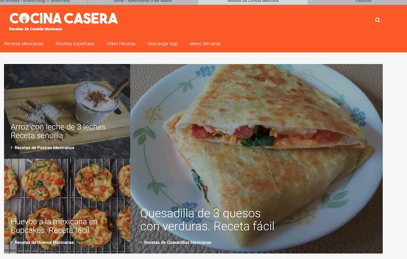 blog familiares de México Cocina Casera