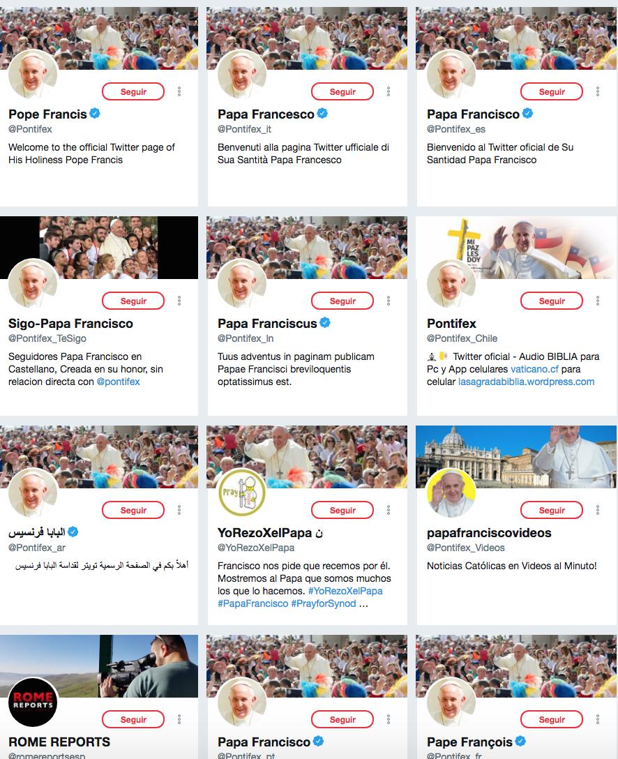 Políticos influencers. Papa Francisco
