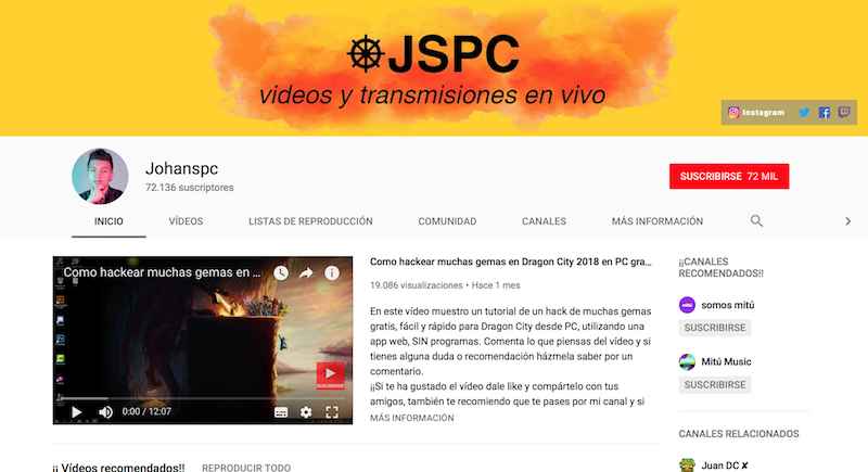 influencers de los eSports en Latinoamérica Johanspc