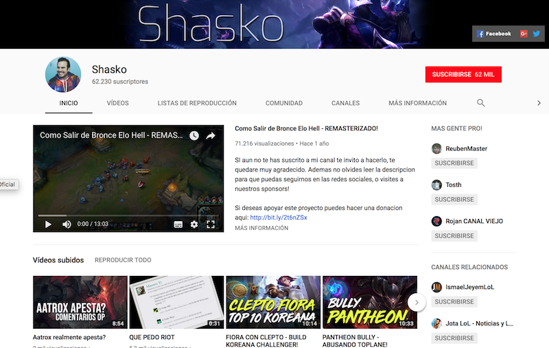 influencers de los eSports en Latinoamérica Shasko