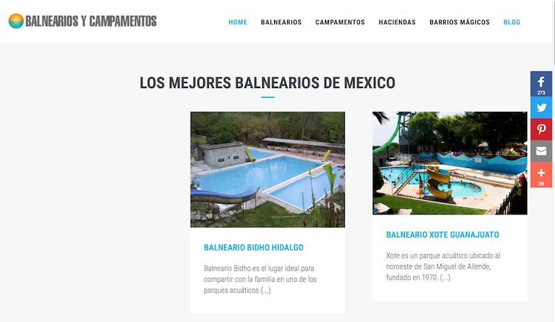 blogs de viajes de México Balnearios México