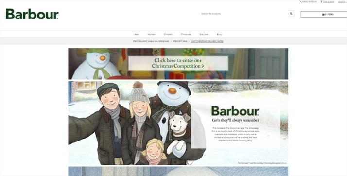 Barbour Contenidos que más convierten en Navidad