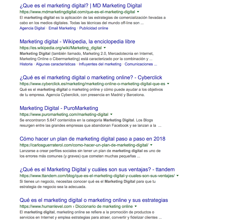 metadescripción mkt digital