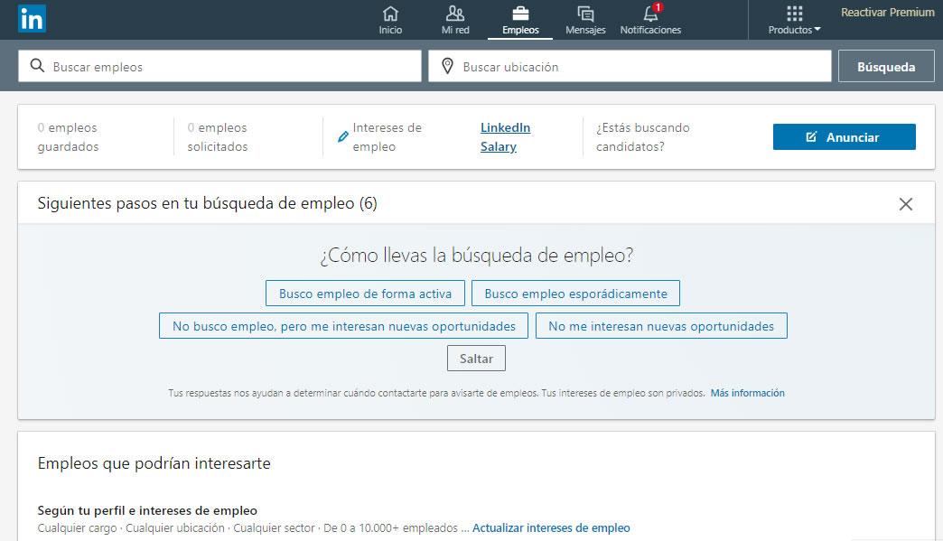 Empleos en Linkedin