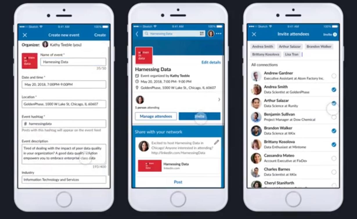 Nueva funcionalidad en Linkedin: gestión de eventos
