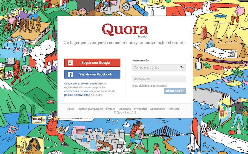 promocionar una web Quora