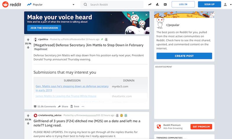 promocionar una web Reddit