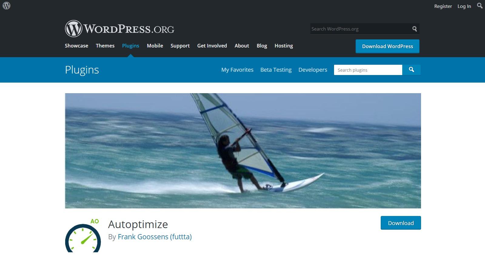 Plugins gratuitos de WordPress autoptimize