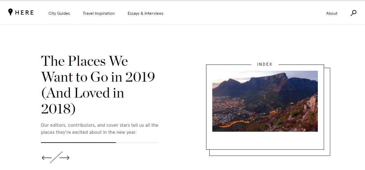 ejemplos de branded content en 2018: Here, de Away
