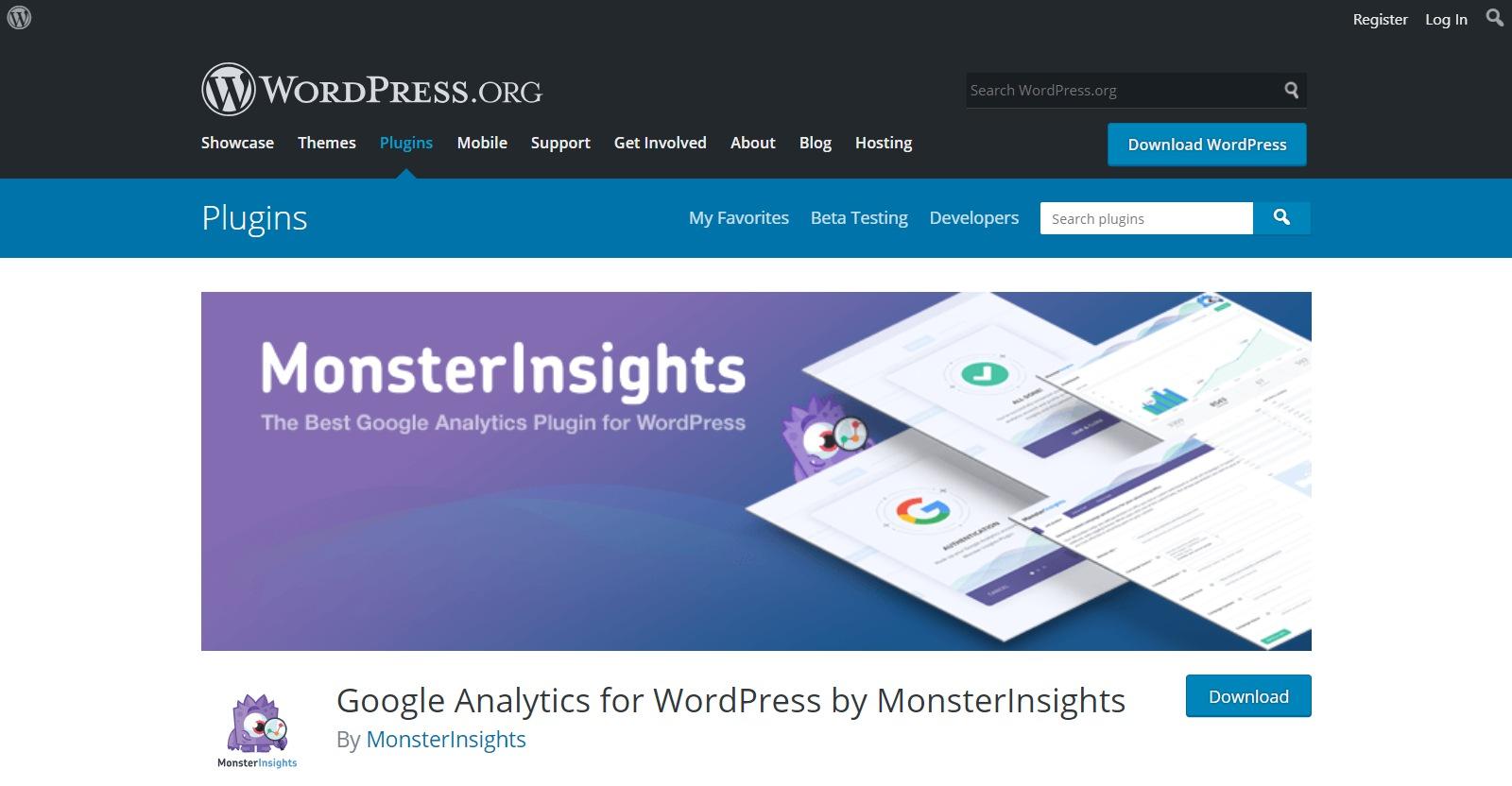 Plugins gratuitos de WordPress monsterinsights