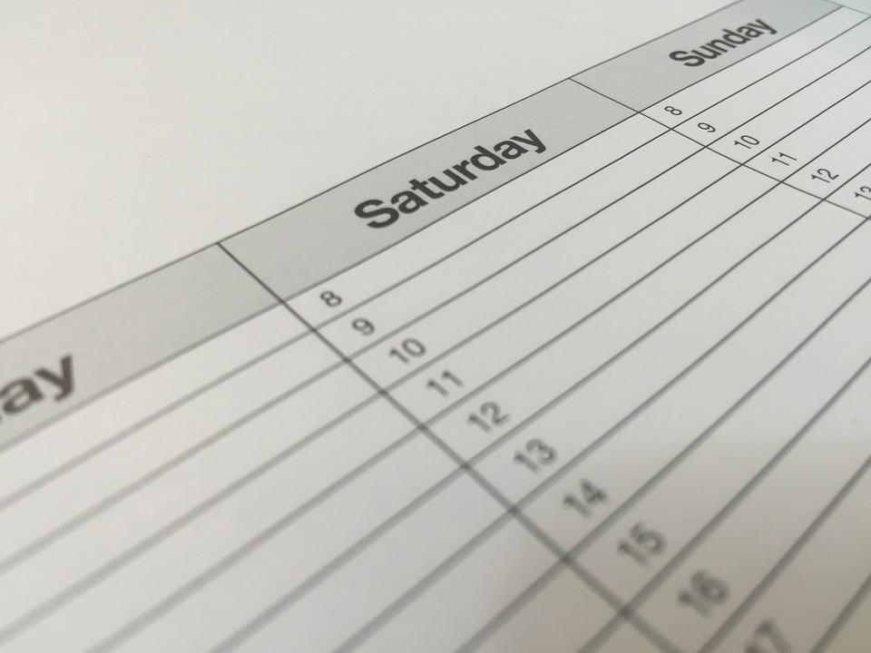 consistencia Calendario de Marketing 2019