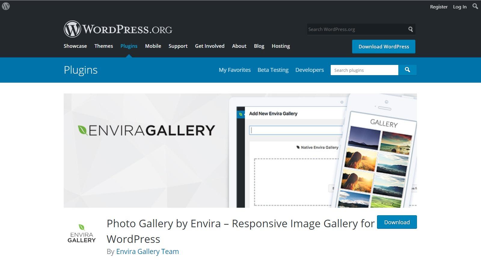 Plugins gratuitos de WordPress enviar gallery