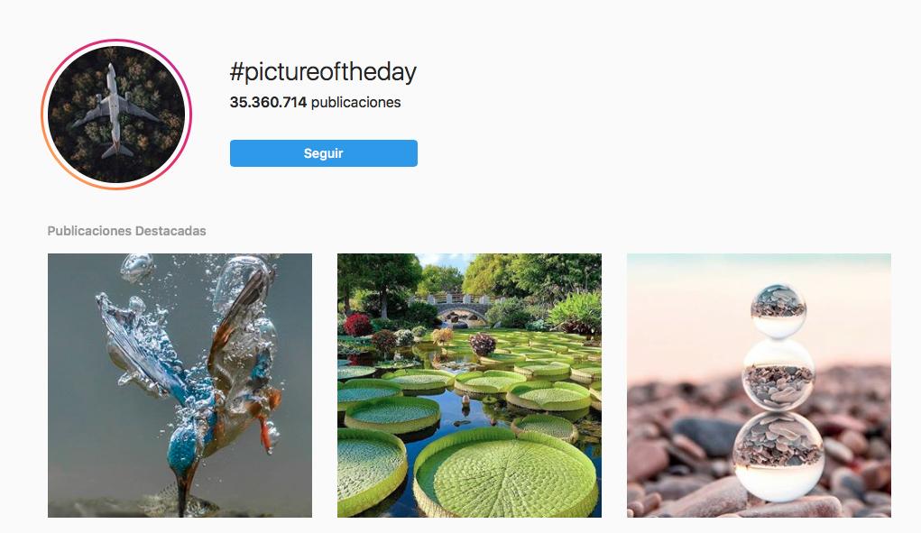 Hashtags en Instagram fotografia