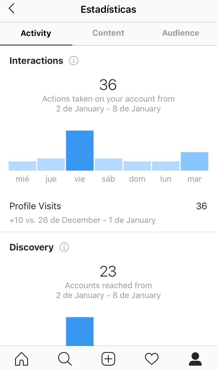 máximo provecho a los informes de Instagram acciones