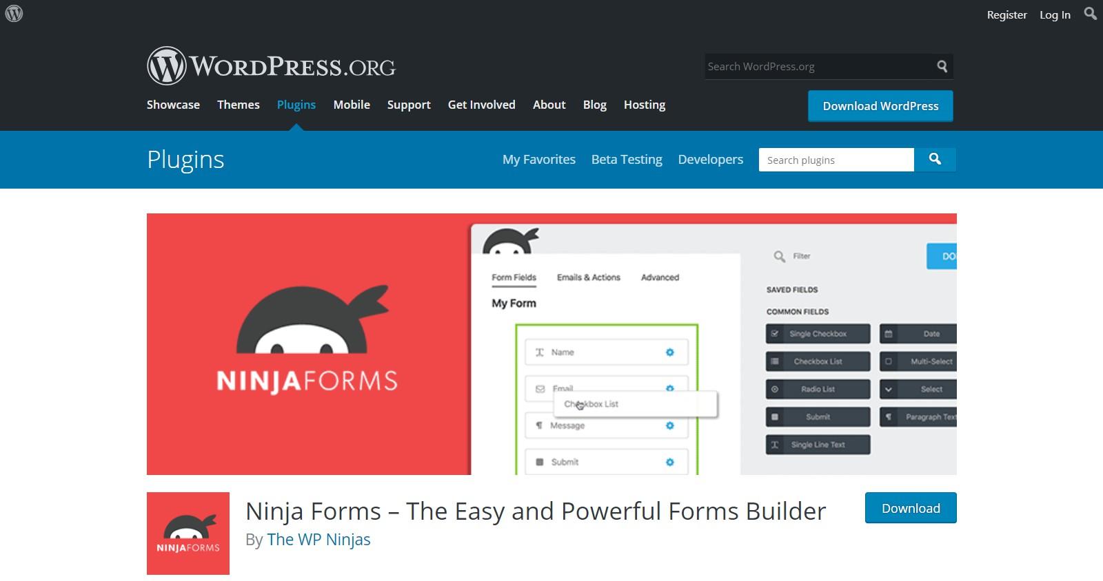 Plugins gratuitos de WordPress ninja forms