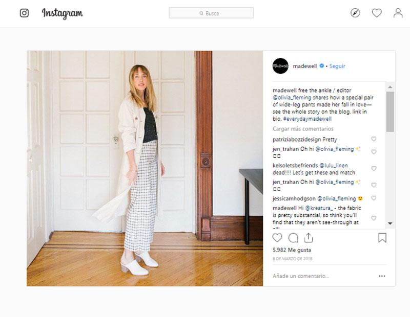 Estrategias de Branded Content para sector moda madewell