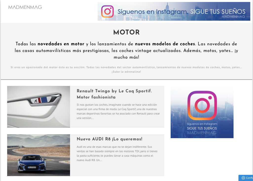 blogs de motor en España madmenmag